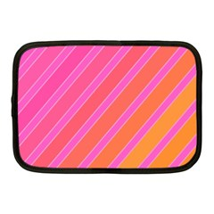 Pink Elegant Lines Netbook Case (medium)  by Valentinaart