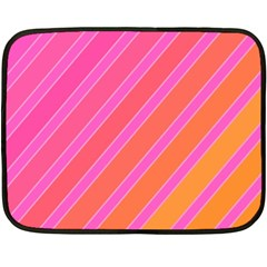 Pink Elegant Lines Fleece Blanket (mini) by Valentinaart