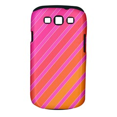 Pink Elegant Lines Samsung Galaxy S Iii Classic Hardshell Case (pc+silicone) by Valentinaart