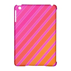 Pink Elegant Lines Apple Ipad Mini Hardshell Case (compatible With Smart Cover) by Valentinaart
