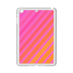 Pink Elegant Lines Ipad Mini 2 Enamel Coated Cases by Valentinaart