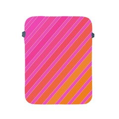 Pink Elegant Lines Apple Ipad 2/3/4 Protective Soft Cases by Valentinaart
