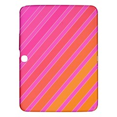 Pink Elegant Lines Samsung Galaxy Tab 3 (10 1 ) P5200 Hardshell Case  by Valentinaart