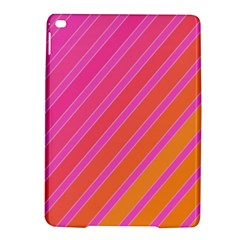 Pink Elegant Lines Ipad Air 2 Hardshell Cases by Valentinaart