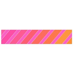 Pink Elegant Lines Flano Scarf (small) by Valentinaart