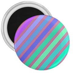 Pastel Colorful Lines 3  Magnets by Valentinaart