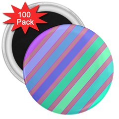 Pastel Colorful Lines 3  Magnets (100 Pack) by Valentinaart