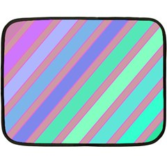 Pastel Colorful Lines Double Sided Fleece Blanket (mini)  by Valentinaart