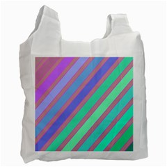 Pastel Colorful Lines Recycle Bag (two Side)  by Valentinaart