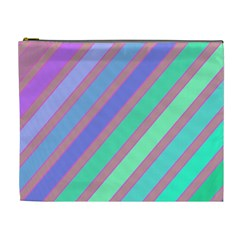 Pastel Colorful Lines Cosmetic Bag (xl) by Valentinaart