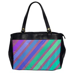 Pastel Colorful Lines Office Handbags by Valentinaart