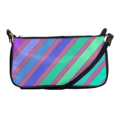 Pastel Colorful Lines Shoulder Clutch Bags by Valentinaart