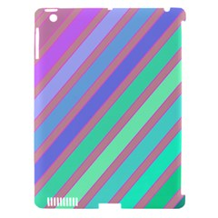 Pastel Colorful Lines Apple Ipad 3/4 Hardshell Case (compatible With Smart Cover) by Valentinaart