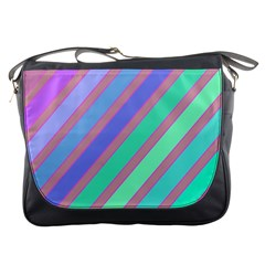 Pastel Colorful Lines Messenger Bags by Valentinaart