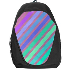 Pastel Colorful Lines Backpack Bag by Valentinaart