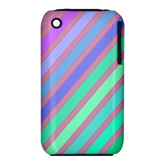 Pastel Colorful Lines Apple Iphone 3g/3gs Hardshell Case (pc+silicone) by Valentinaart