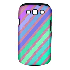 Pastel Colorful Lines Samsung Galaxy S Iii Classic Hardshell Case (pc+silicone) by Valentinaart