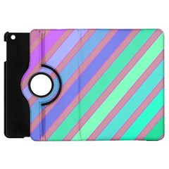 Pastel Colorful Lines Apple Ipad Mini Flip 360 Case by Valentinaart
