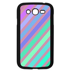Pastel Colorful Lines Samsung Galaxy Grand Duos I9082 Case (black) by Valentinaart