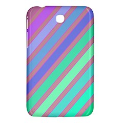 Pastel Colorful Lines Samsung Galaxy Tab 3 (7 ) P3200 Hardshell Case  by Valentinaart