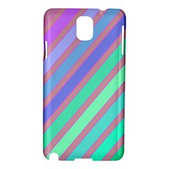 Pastel Colorful Lines Samsung Galaxy Note 3 N9005 Hardshell Case by Valentinaart