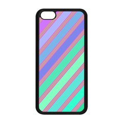 Pastel Colorful Lines Apple Iphone 5c Seamless Case (black) by Valentinaart