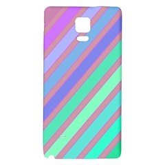 Pastel Colorful Lines Galaxy Note 4 Back Case by Valentinaart