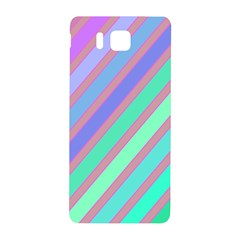 Pastel Colorful Lines Samsung Galaxy Alpha Hardshell Back Case by Valentinaart
