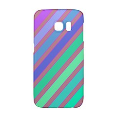 Pastel Colorful Lines Galaxy S6 Edge by Valentinaart
