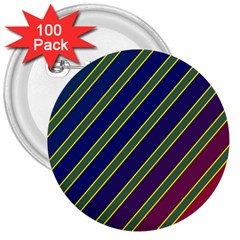 Decorative Lines 3  Buttons (100 Pack)  by Valentinaart