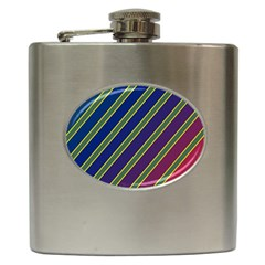 Decorative Lines Hip Flask (6 Oz) by Valentinaart