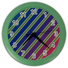 Decorative Lines Color Wall Clocks by Valentinaart