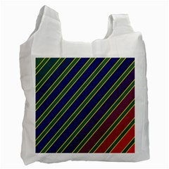 Decorative Lines Recycle Bag (two Side)  by Valentinaart