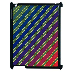 Decorative Lines Apple Ipad 2 Case (black) by Valentinaart
