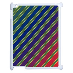 Decorative Lines Apple Ipad 2 Case (white) by Valentinaart