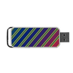 Decorative Lines Portable Usb Flash (one Side) by Valentinaart