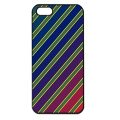 Decorative Lines Apple Iphone 5 Seamless Case (black) by Valentinaart