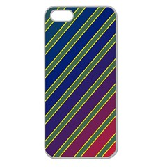 Decorative Lines Apple Seamless Iphone 5 Case (clear) by Valentinaart