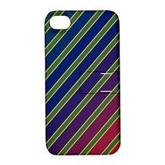 Decorative Lines Apple Iphone 4/4s Hardshell Case With Stand by Valentinaart