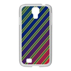 Decorative Lines Samsung Galaxy S4 I9500/ I9505 Case (white) by Valentinaart