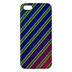 Decorative Lines Iphone 5s/ Se Premium Hardshell Case by Valentinaart