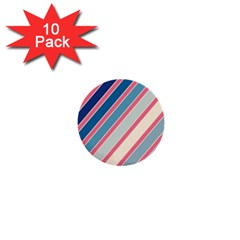 Colorful Lines 1  Mini Buttons (10 Pack)