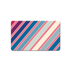 Colorful Lines Magnet (name Card) by Valentinaart