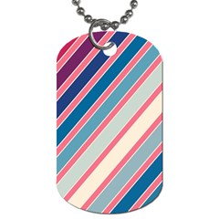 Colorful Lines Dog Tag (one Side) by Valentinaart