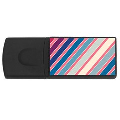 Colorful Lines Usb Flash Drive Rectangular (4 Gb)  by Valentinaart