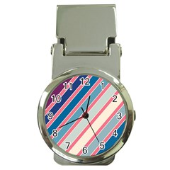 Colorful Lines Money Clip Watches by Valentinaart