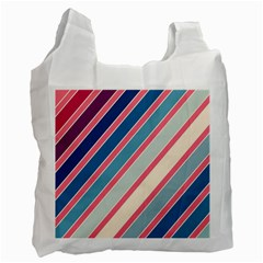 Colorful Lines Recycle Bag (one Side)