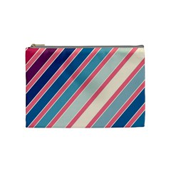 Colorful Lines Cosmetic Bag (medium)  by Valentinaart