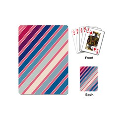 Colorful Lines Playing Cards (mini)  by Valentinaart