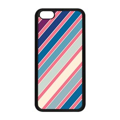 Colorful Lines Apple Iphone 5c Seamless Case (black) by Valentinaart